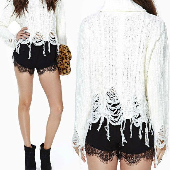 shorts lace shorts lace trimmed chiffon shorts scalloped shorts
