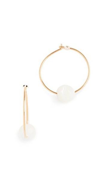 Chan Luu earrings gold white jewels