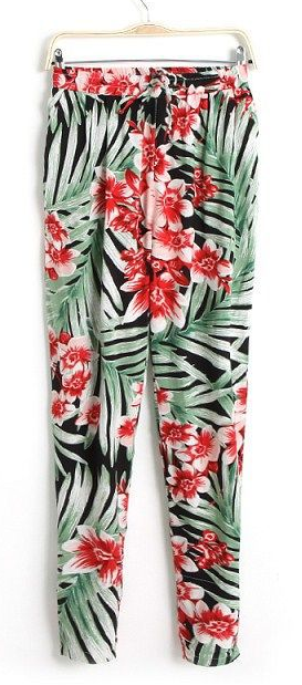 Somewhere tropical in the city pants  / big momma thang