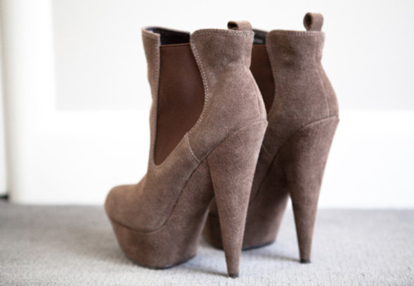 high heels boots brown shoes shoes ankle boots stiefeletten fall colors