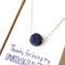 Midnight blue pendant necklace - delicate gold necklace - sparkly navy - gold galaxy necklace - tiny sparkle necklace dainty
