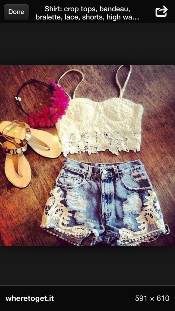 shorts shirt embellished denim