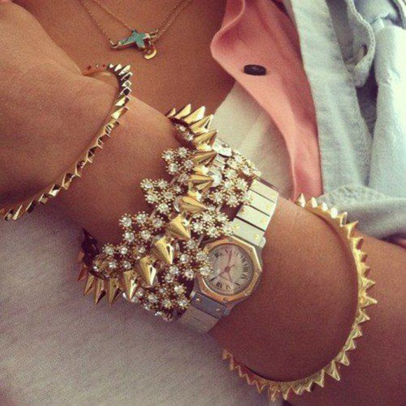 jewels golden bracelets many me looove