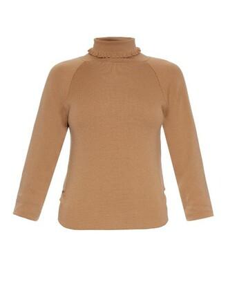 sweater wool camel