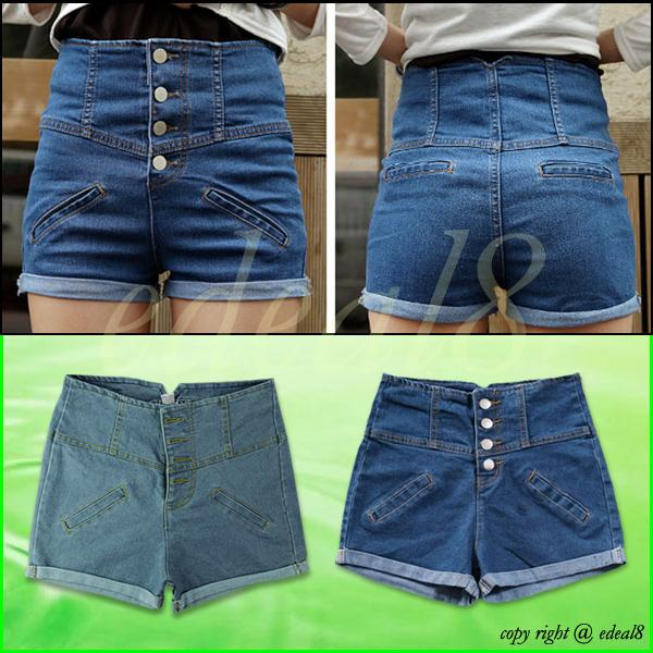 New Girl Denim High Waist Shorts Jeans Pants Vintage Cuffed Jeans Womens Fashion | eBay
