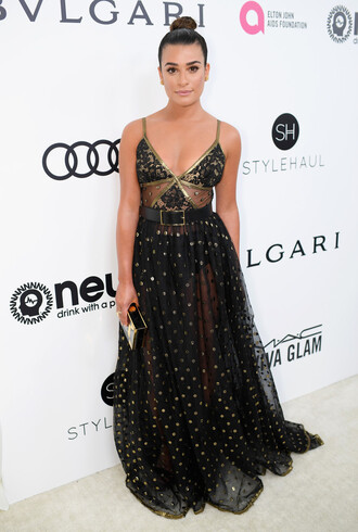 dress oscars oscars 2017 lea michele gown prom dress maxi dress long dress