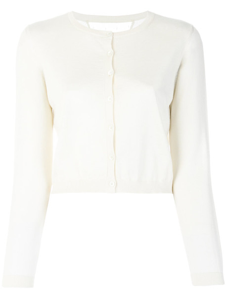 RED VALENTINO cardigan cardigan cropped women white silk sweater