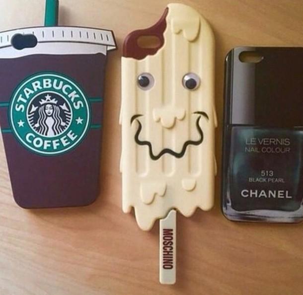 phone cover starbucks coffee chanel ice cream