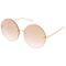 Oversize women's modern mirrored flat lens sunglasses a897