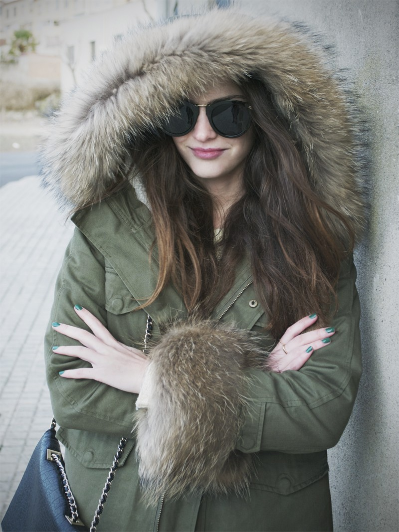 Hit the road detachable faux fur jacket