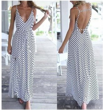 dress girl girly girly wishlist maxi dress maxi stripes striped dress backless open back open back dresses