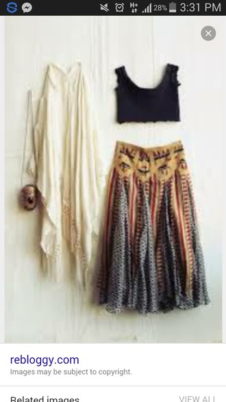 skirt top shawl hippie gypsy boho