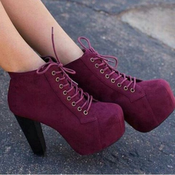 Shoes Burgundy Burgundy Shoes Jeffrey Campbell Chunky