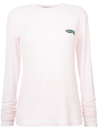 t-shirt shirt women spandex embellished wool purple pink top