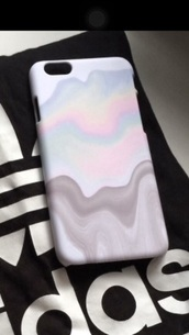 phone cover,aesthetic,iphone 6 case,holographic,colorful,drip