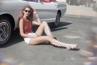 shoes wild rose zooshoo zooshoo shoes white sandals sandals gladiators white gladiator sandals knee high sandals knee high shoes knee high sandal heel