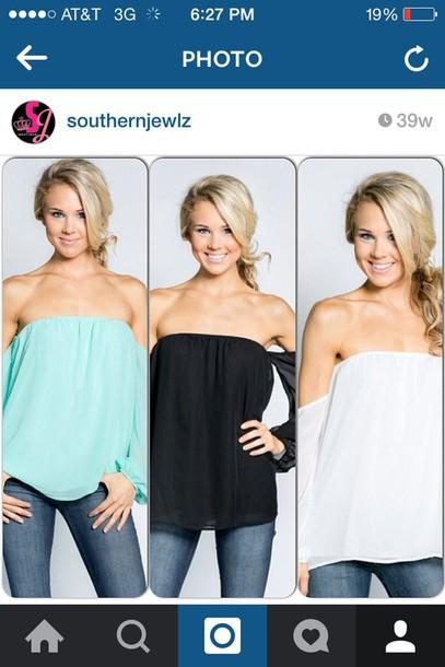 blouse southern jewlz black