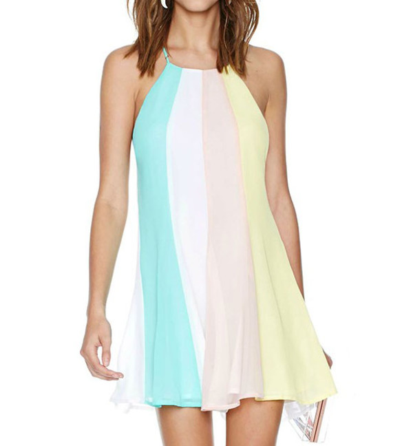 summer dress streetstyle stylemoi color dress
