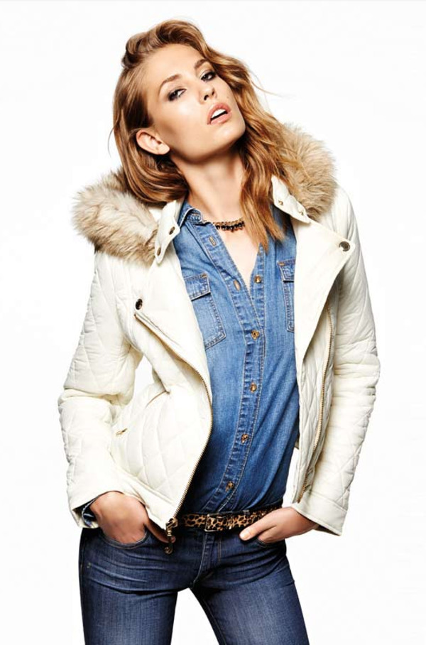 coat lookbook fashion juicy couture shirt jeans belt