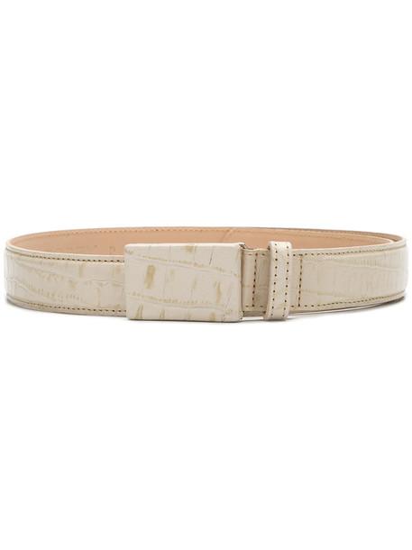 belt white crocodile