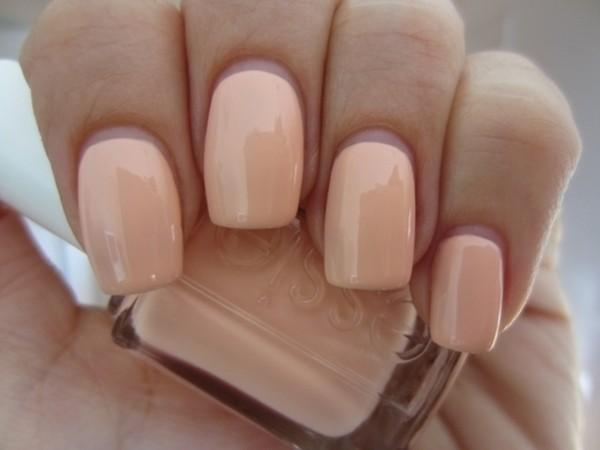 jewels essie nail polish nails pastel peach