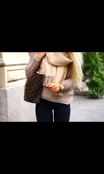 handbag fall sweater fall outfits ineedthese helpmetofindit scarf
