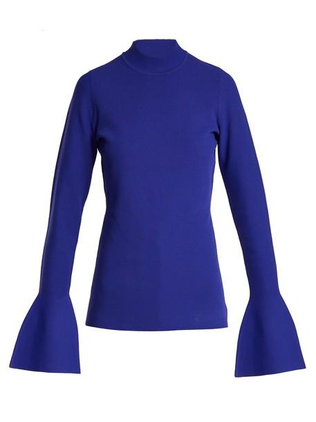 top knit blue