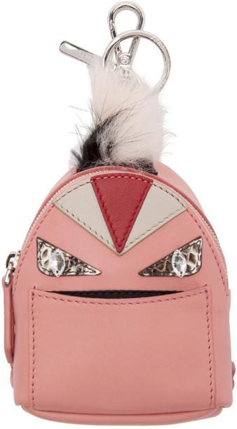 Fendi fur backpack pink bag