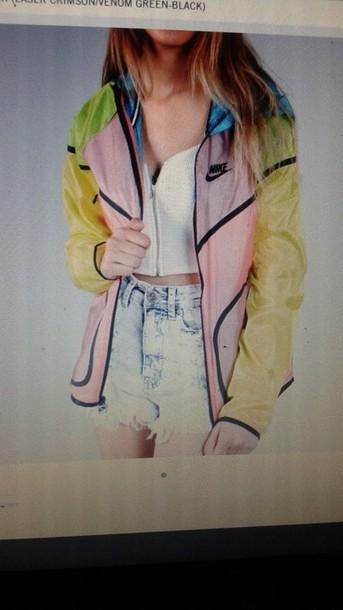 jacket winderbreaker nike colorful