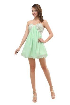 Amazon.com: Artwedding Strapless Mini Chiffon Cocktail Party Dress: Clothing