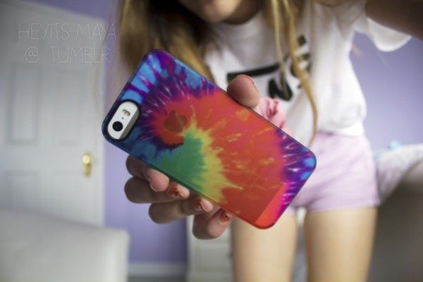 phone cover phone cover tie dye girl girly girl peace