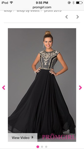 dress prom black