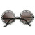 Womens Fashion Metal Lace Cut Round Circle Fashion Sunglasses 8963                           | zeroUV