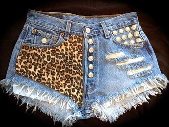 shorts high waisted shorts leopard shorts