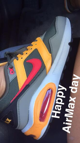shoes laser yellow grey cool grey anthracite charcoal nike shoes air max air max 90 air max 90 essential