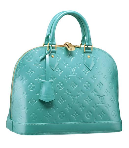 Louis Vuitton Monogram Vernis Alma PM Bag Blue - Replica Handbags