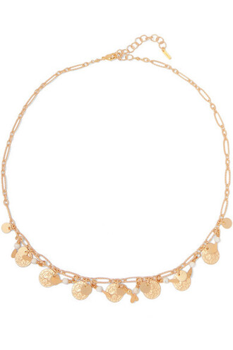 stone necklace necklace gold jewels