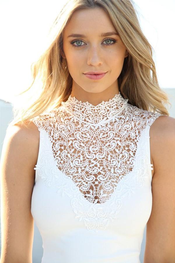 caitlyn paterson blond rüschchen fabolous summer outfits summer dress blonde hair