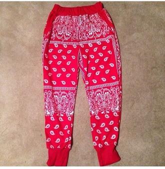 pants bandana print bandana joggers ciara angela simmons bandana fashion leggings