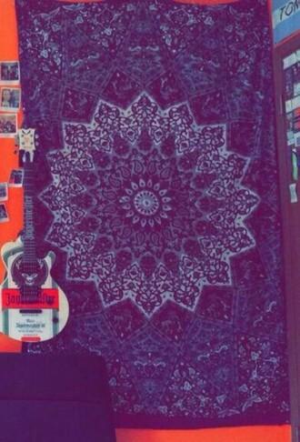 home accessory navy aztec tapestry wall tapestry bedroom tumblr bedroom mandala
