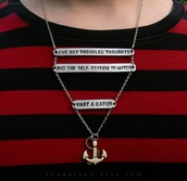 jewels,fall out boy,what a catch,necklace,anchor,saying,lyrics,band