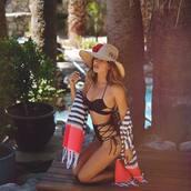 swimwear,tumbr,black bikini,hat,sun hat,swimwear two piece,cut-out swimsuit,bikini,bikini top,bikini bottoms,kimono,high waisted bikini