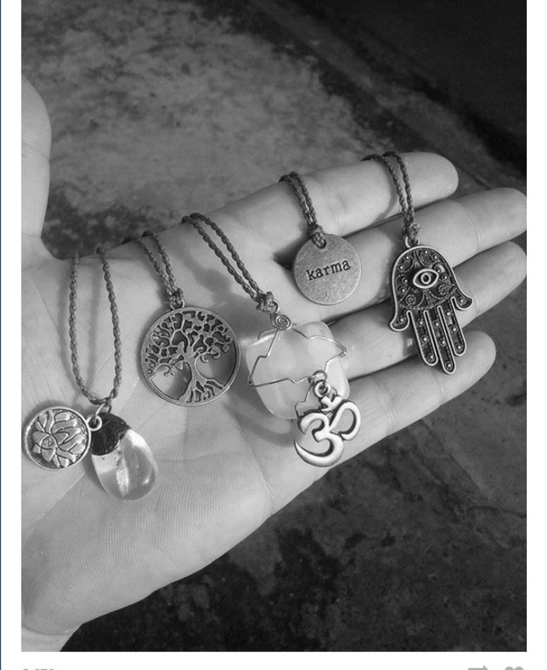 jewels necklace necklace hippie hippie chic alternative charms good luck charm good luck charms charm