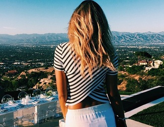tank top top striped shirt