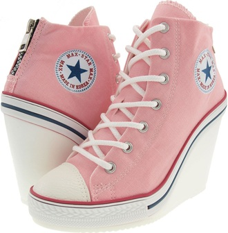 shoes pink converse wedge heels pink converse