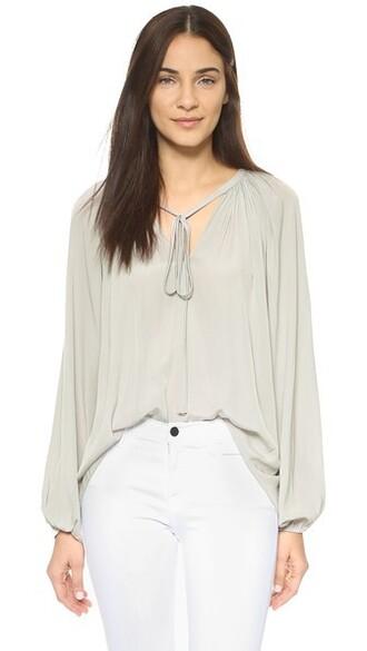 blouse paris light grey top