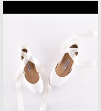 shoes white ballerina flats