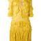 Dsquared2 - ruffle trimmed knitted dress - women - viscose - xs, yellow/orange, viscose