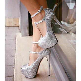 shoes fsjshoes prom dress prom prom gown heels high heels high strappy heels strappy classy clubwear sequins sparkle buckles fashion trendy instagram silver sexy shoes chic gown glitter silver shoes