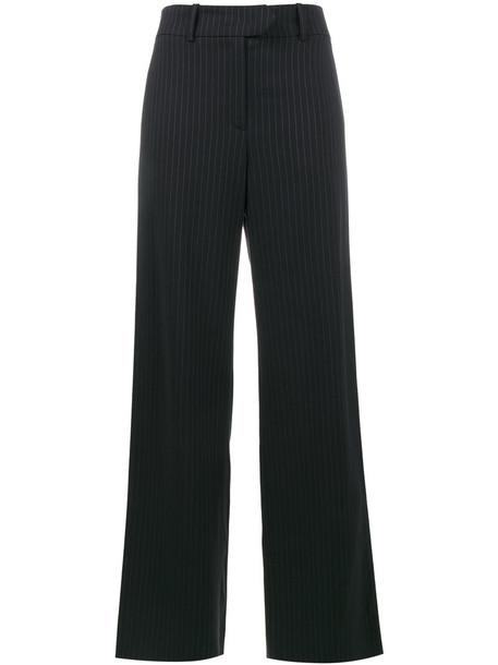 glitter women spandex blue wool pants